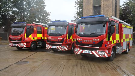 On-call firefighters join officers with new alternative fire engines.