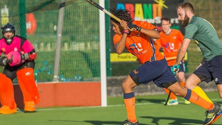 Tariq Marcano was one of the scorers for St Albans against Bedford. Picture: CHRIS HOBSON PHOTOGRAPH