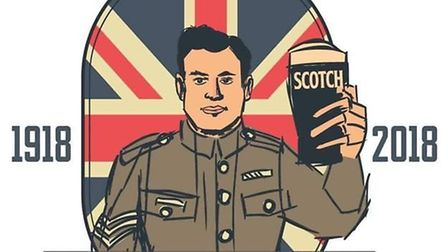 A new label has been created to mark the 100th anniversary of Sgt Payne's beer, bearing an image of
