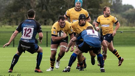 Old Albanian fell to an 18-17 defeat at Dings Crusaders. Picture: NEIL BALDWIN PHOTOGRAPHY