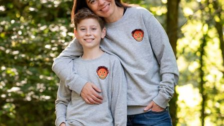 Orangutan sweatshirts made by the St Albans-based company Tommy and Lottie to help endangered Sumatr