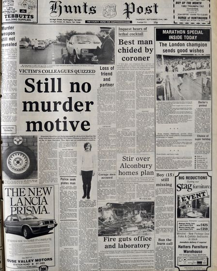 Hunts Post with the Murder of Janice weston
