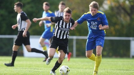 Colney Heath V Histon - Harry Lewis in action for Colney Heath.Picture: Karyn Haddon