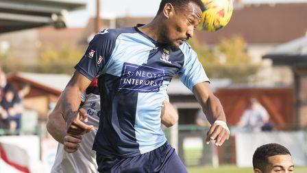 St Neots Town striker Nabil Shariff against Kettering Town. Picture: CLAIRE HOWES
