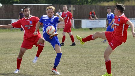 Simon Unwin scored for Godmanchester Rovers in their FA Vase victory. Picture: DUNCAN LAMONT