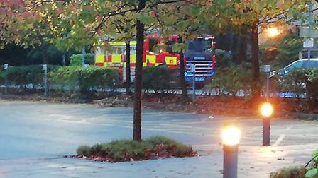 A fire engine outside Royston Leisure Centre. Picture: Ian Coll