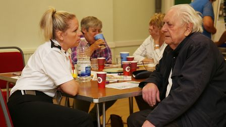 The Older Persons Active Learning and Safety event organised by fire service at Royston Town Hall. P