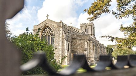 Great Chesterford is on the border of Essex and Cambridgeshire; Image:ERDL