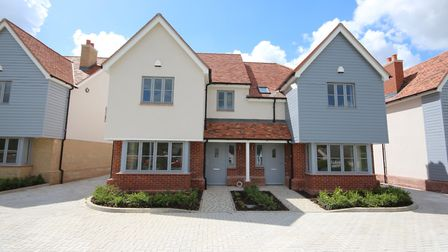 Woodland Rise is a new development by ERDL in Great Chesterford. House pictured above left with whit