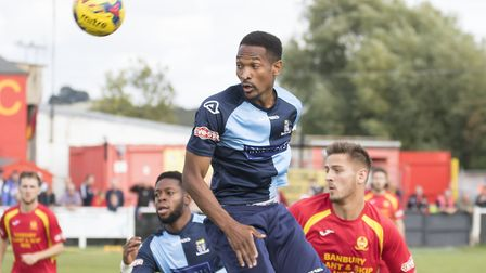 Nabil Shariff was one of two St Neots Town players to hit the woodwork in their 0-0 draw against Hit