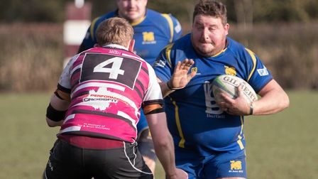 Josh Dear was among the try-scorers as St Ives beat Long Buckby. Picture: PAUL COX