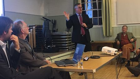 The CambBedRailRoad meeting at Shepreth Village Hall. Picture: Archant