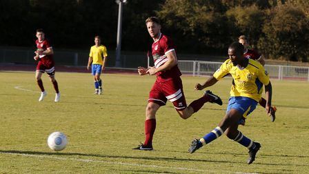 Khale Da Costa shoots at goal. Picture: LEIGH PAGE