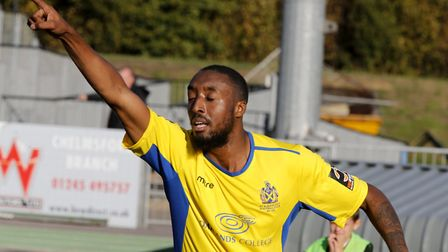 Ralston Gabriel celebrates another goal. Picture: LEIGH PAGE