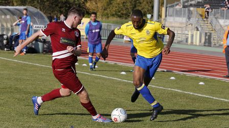 Ralston Gabriel takes on the Chelmsford defence. Picture: LEIGH PAGE