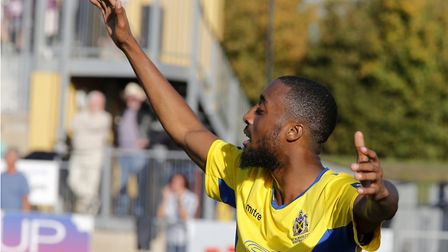 Ralston Gabriel was in fine form for St Albans City against Chelmsford with four goals. Picture: LEI
