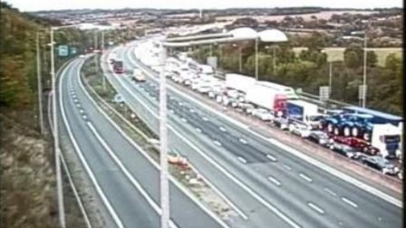 Traffic at a standstill on the M25. Picture: www.motorwaycameras.co.uk