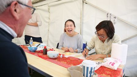 Visitors to the Royston Arts Festival 2018. Picture: DANNY LOO
