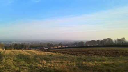The Gladman proposed development site in Royston from the southern end looking north towards Echo Hi