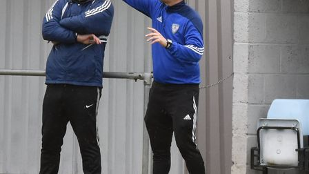 Eynresbury Rovers manager Mark Ducket, pictured here during their victory at Deeping Rangers, has be