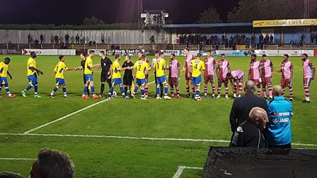 St Albans City took on Corinthian Casuals in the FA Cup second qualifying round.