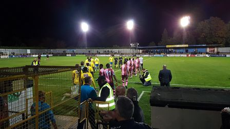 St Albans City were held to a 1-1 draw by Corinthian Casuals in their FA Cup clash at Clarence Park.