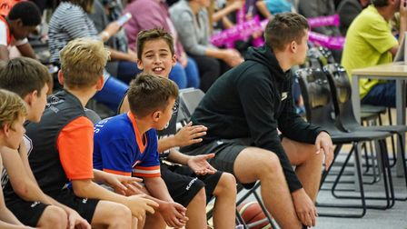 Youngsters enjoy the basketball action