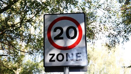 The 20 mile per hour speed limit on Cravells Road, Harpenden. Picture: DANNY LOO