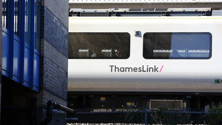 A Thameslink train at Potters Bar train station. Picture: DANNY LOO