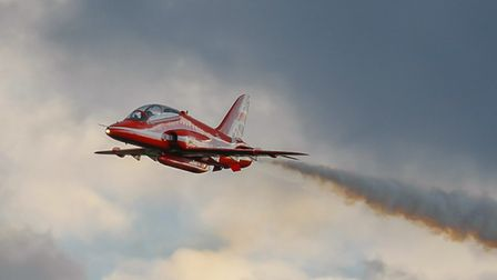 Red Arrows Hawk. Picture: Gerry Weatherhead