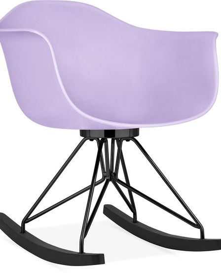 Rock star: Moda Rocking Chair CD4, inspired by Eames designs with a polypropylene shell, £89, www.c
