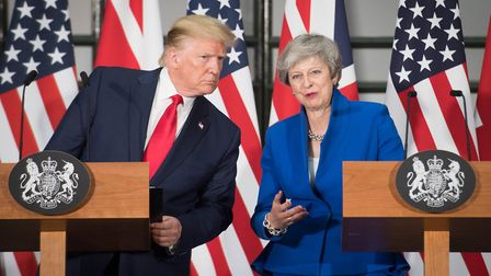 Prime Minister Theresa May and US President Donald Trump. Photograph: Stefan Rousseau/PA Wire.