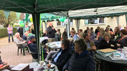 Olive Drake's coffee morning in Royston last year. Picture: Olive Drake