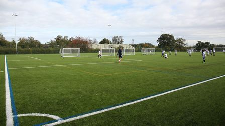 The new 3g pitches at Samuel Ryder Academy. Picture: DANNY LOO