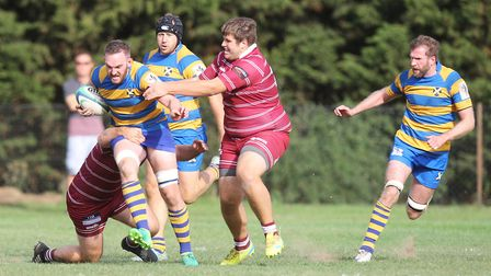St Albans V Hitchin - Ross Taylor in action for St albans.Picture: Karyn Haddon