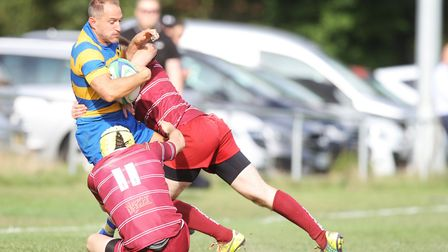 St Albans V Hitchin - Jacob Swain in action for St albans.Picture: Karyn Haddon