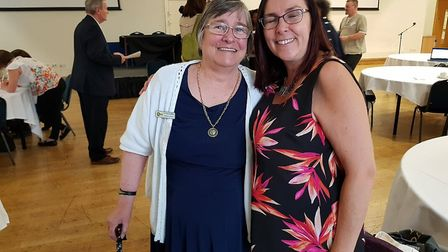 Coordinator Georgina Corley with Nicki Baker. Picture: CONTRIBUTED