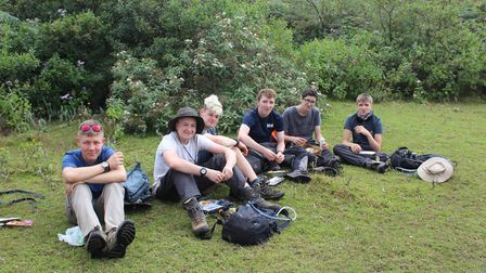 BVC students on a trek. Picture: BVC