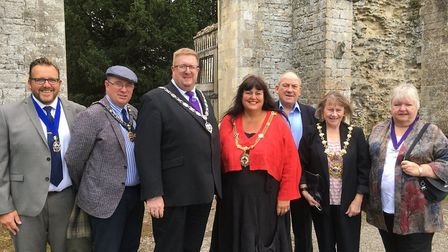 Mayors from Ramsey, Huntingdon, Godmanchester and Fenland at the Heritage open day in Ramsey