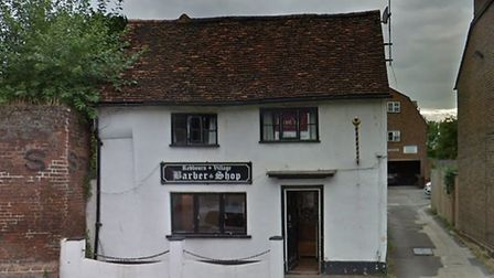 Cash and clippers were stolen from Redbourn Village Barbers during a burglary. Picture: Google Stree