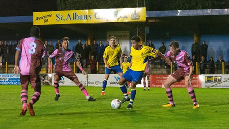 The saga of the St Albans City & Corinthian Casuals FA Cup tie rumbles on. Picture: Jeremy Banks Pho