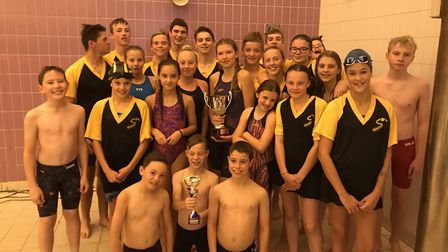 First Strokes Godmanchester celebrate their success.
