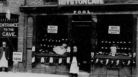 An historic shot of what is now the cave shop and entrance. Picture: Royston and District Local Hist