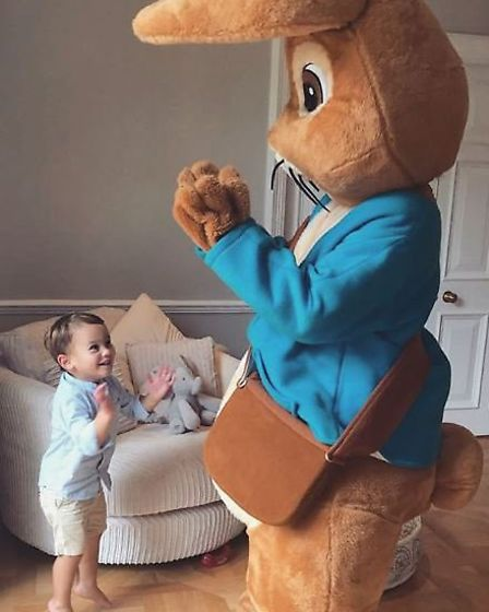 ... and no family barbecue is complete without a giant Peter Rabbit. Picture: @samanthafaiers/Instag