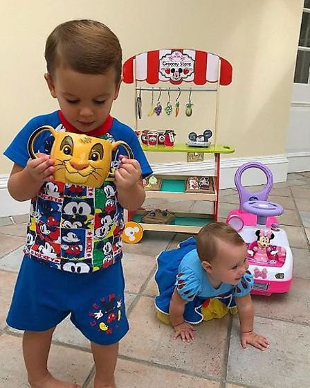 All the Disney goods a pair of little ones could wish for. Picture: @samanthafaiers