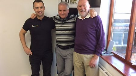 L-R Toby Serjeant, Community Charity Officer St Neots Round Table, Steve Greenall from Black Cat Ra