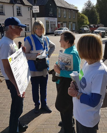 Remain group conduct street polls for People's Vote National Day of Action. The Brexitometer in Redb