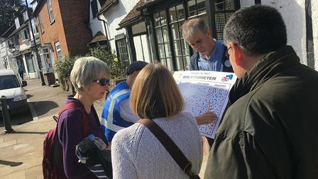 Remain group conduct street polls for People's Vote National Day of Action. The Brexitometer in Whea