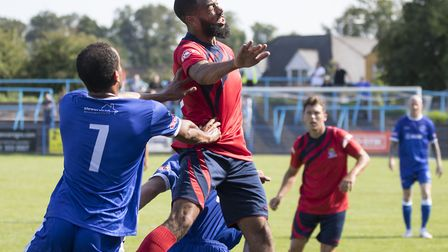 Gary Wharton opened his St Neots Town account with two vital goals in their FA Cup replay at Coalvil