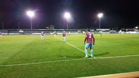 St Albans City crashed out of the FA Cup with a heavy defeat at Taunton Town.